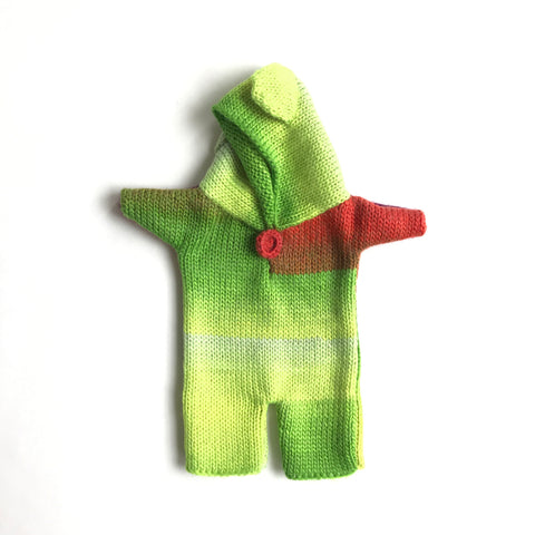 Bon Tot Apparel: Paola Reina Knitted Teddy Suit - Neon