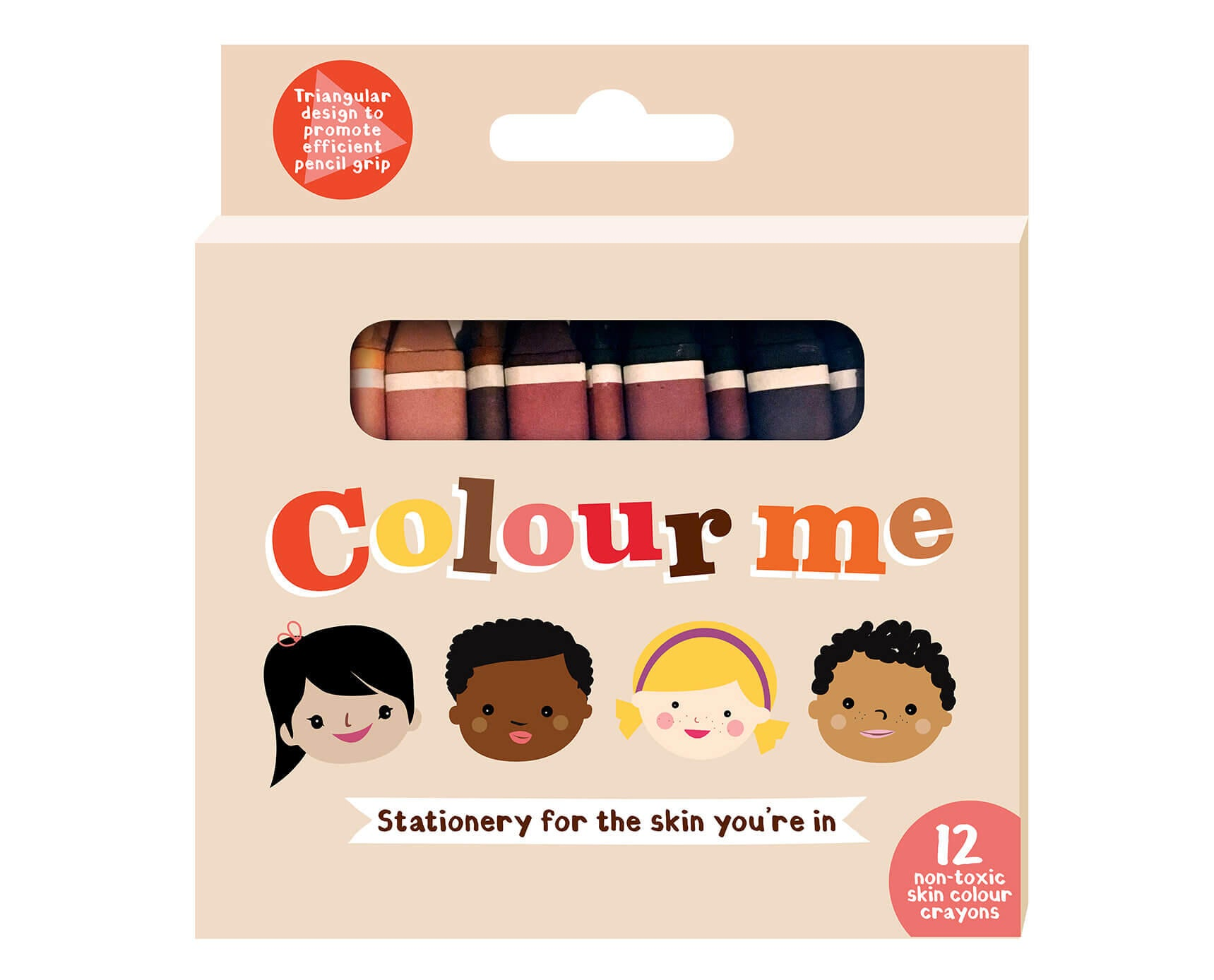 Colour Me Kids: Set of 12 Skin Colour Crayons