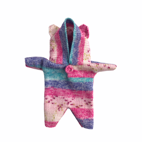 Bon Tot Apparel: Paola Reina Knitted Teddy Suit - Cotton Candy