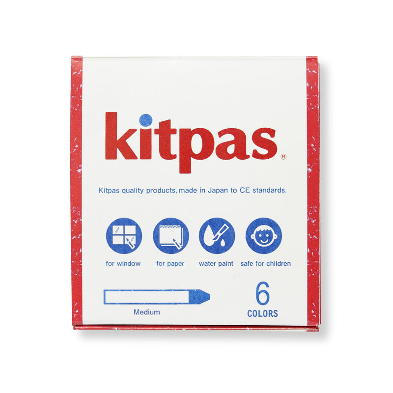 kitpas: Medium Crayons - 6 Colours kitpas - Bon Tot