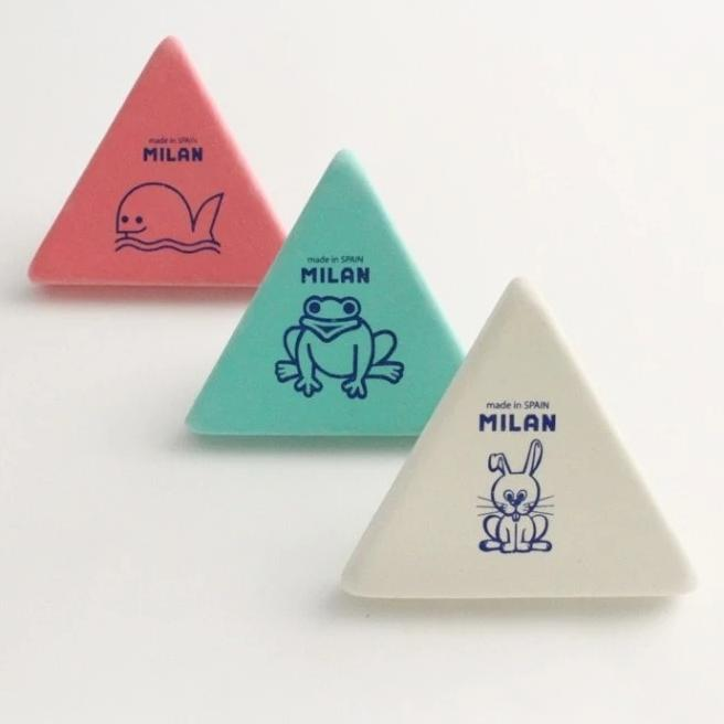 Milan: Synthetic Rubber Eraser - 3x3 Milan - Bon Tot