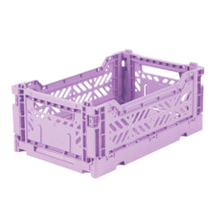 Folding Crate: Mini Stackable Storage Crate - Orchid Folding Crates - Bon Tot