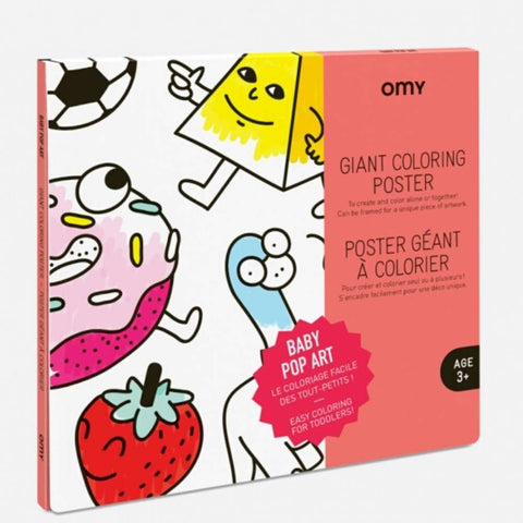 OMY: Baby Pop Art Giant Colouring Poster OMY Colouring Prints - Bon Tot