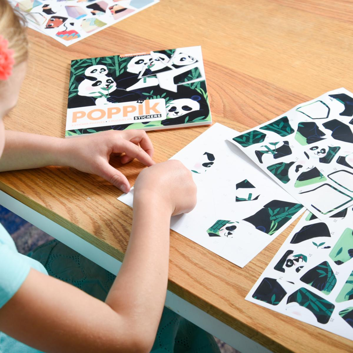 Poppik: Sticker Puzzles - Wild Animals