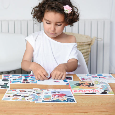 Poppik: Sticker Puzzles - Princesses