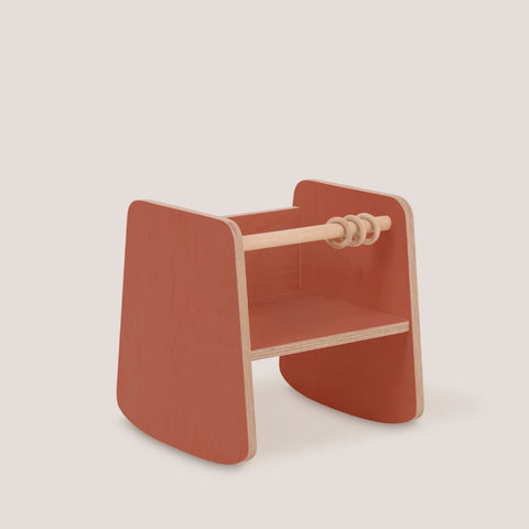 Tre Timber: Zee Rocker - Red Tile Tre Timber - Bon Tot