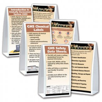 Table Top Tent Cards - GHS Table Cards | GHSExperts.com - GHS Experts