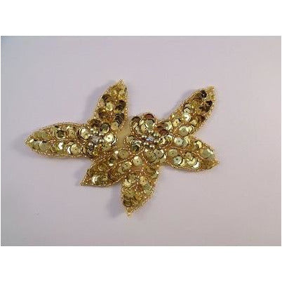 A-099: Applique with ab rhinestones, gold