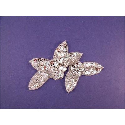 A-099: Applique with ab rhinestones, silver