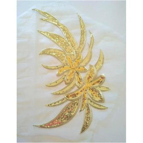 A-113: Gold large applique on net