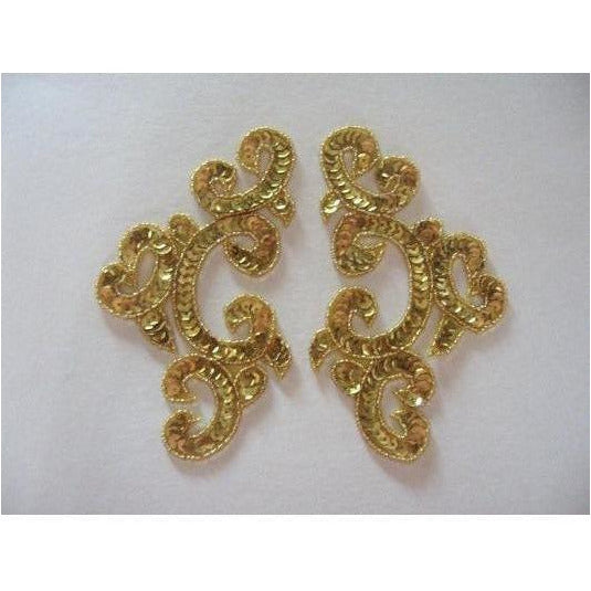 P-024 Gold sequin and bead costume pair
