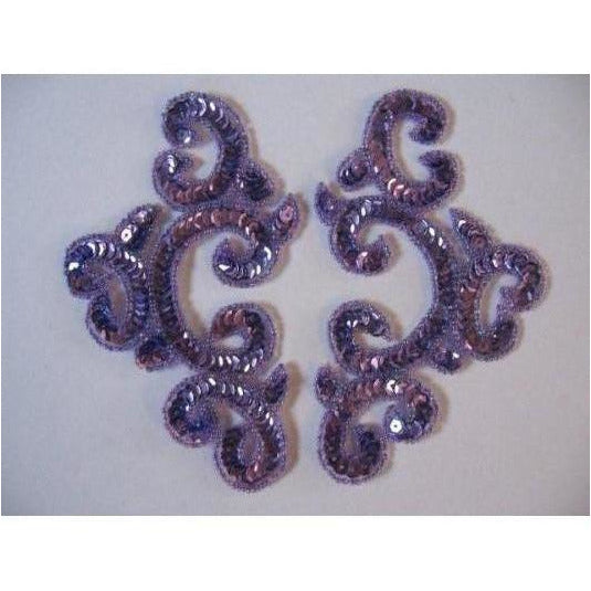 P-024 Lilac sequin and bead costume pair
