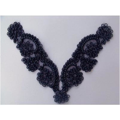 BN-010: Delicate black bead and cord neckpiece