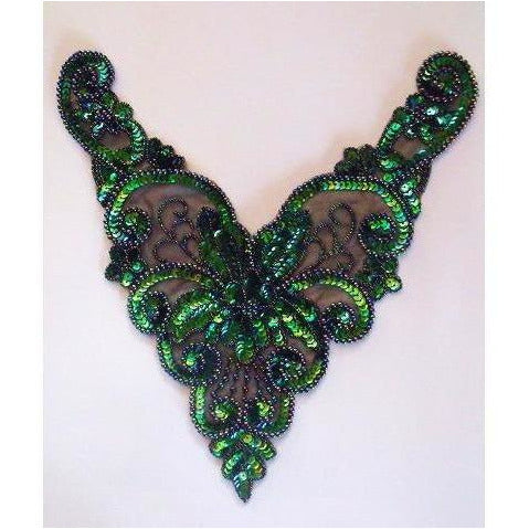 BN-015: Peacock Bodice applique