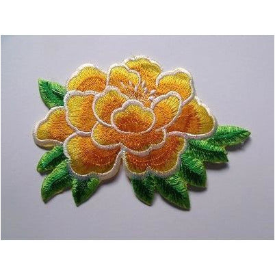 EMB-010: Orange flower applique