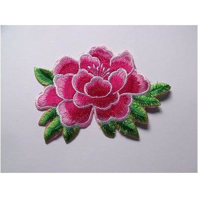 EMB-010 Pink flower applique
