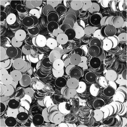 I-078 Loose, 6mm, flat sequins, Silver, 10gm