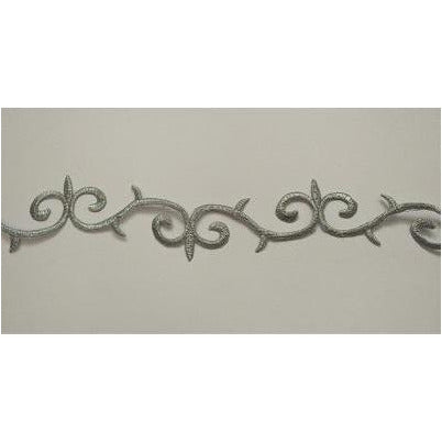 ET-031: Silver embroidered swirl trim