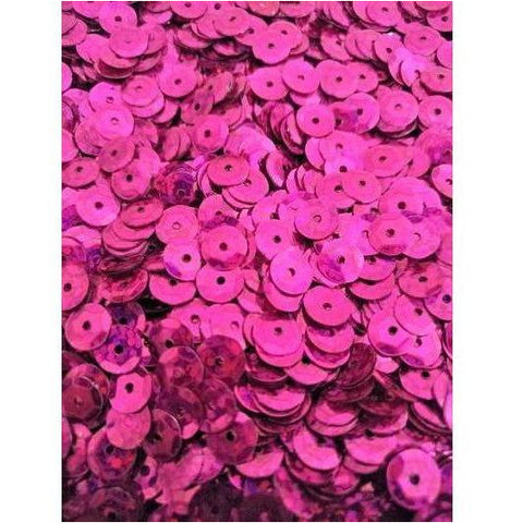 Loose 6 mm cup sequin-Fuchsia Laser