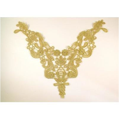 LA-018 Metallic gold neckpiece