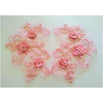 LA-047:Floral and swirl pair, pink