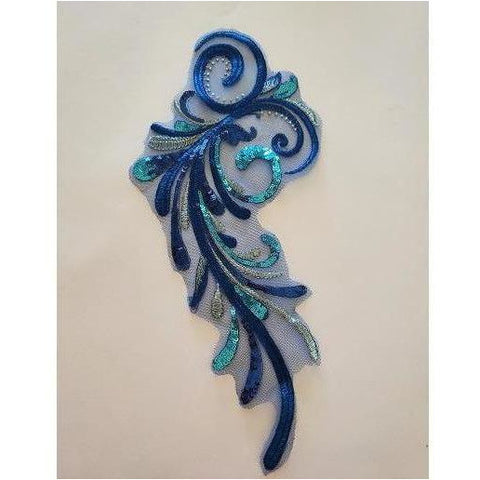 LA-069: Blue swirl applique