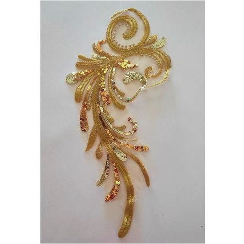 LA-069: Gold swirl applique