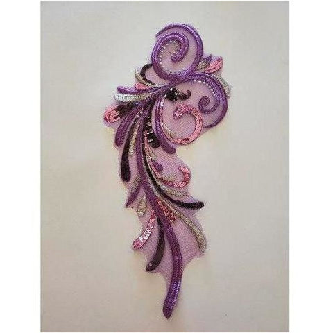 LA-069: Purple swirl applique