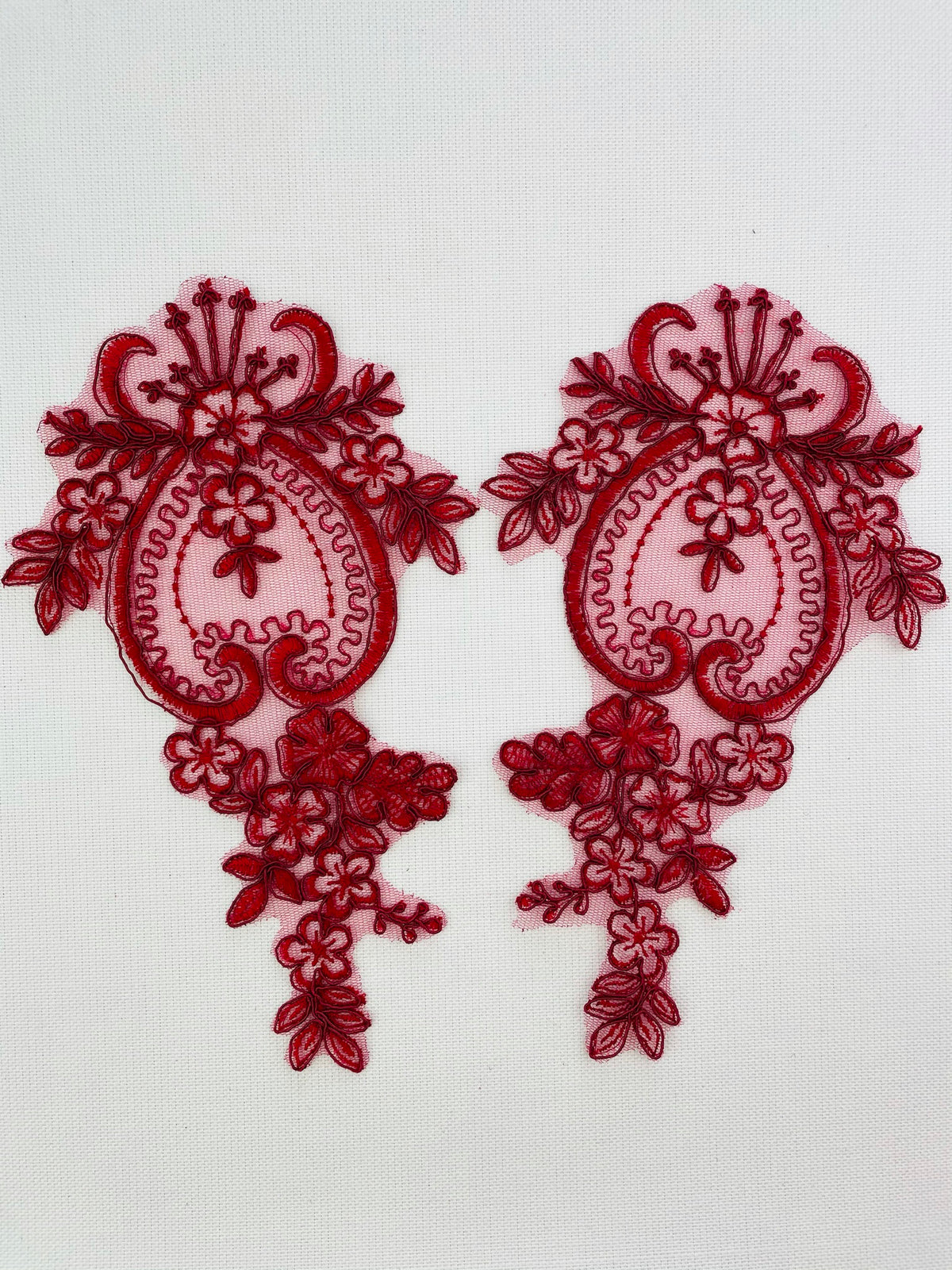 LA-2109 - Dark Red lace Pair
