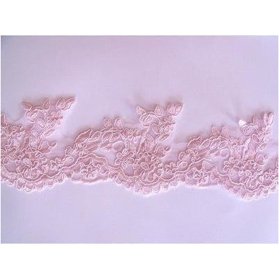 LT-007 Heavenly pink lace trim.