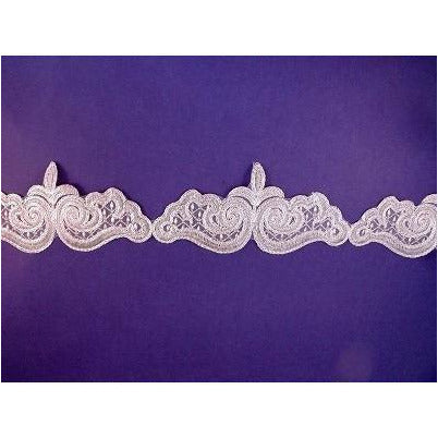 LT-010 Silver lace trim