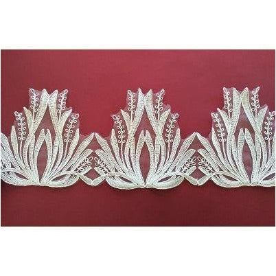 LT-035: Off white feather look lace trim