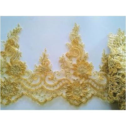 LT-045: Beaded gold trim