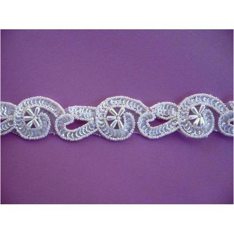 T-012 white crystal trim