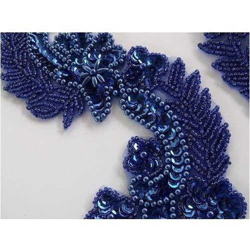 P-037 Sequin and bead Venice style, Blue
