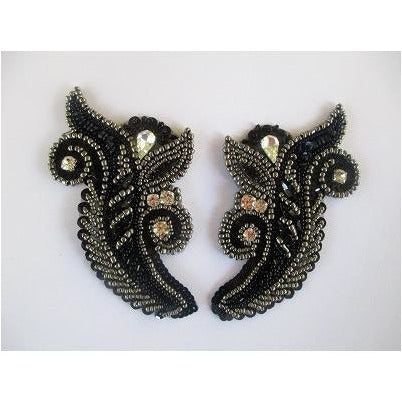 P-043 Black and dark silver pair