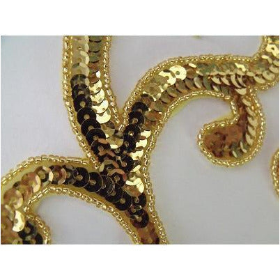 P-044 Gold sequin and bead pair