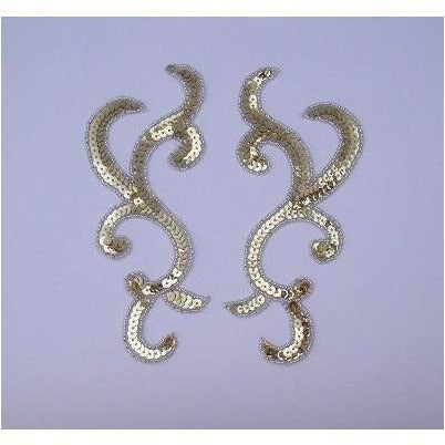 P-044 Silver sequin and bead pair