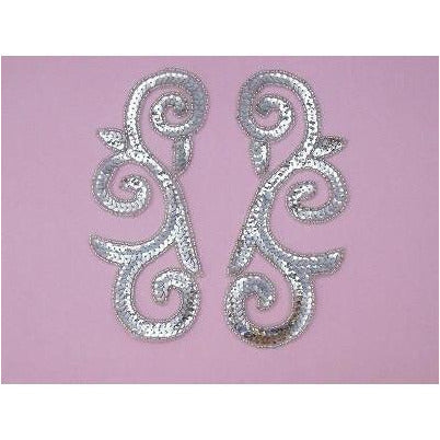 P-046 Silver large swirl pair