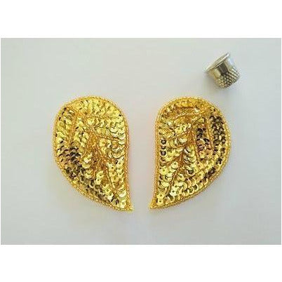 P-050: Gold teardrop pair