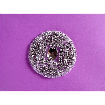 R-091 Rhinestone circle with jewel centre
