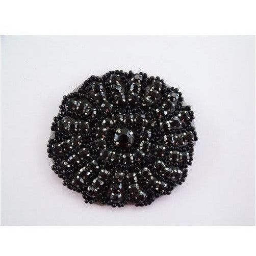 R-096 Black rhinestone circle.