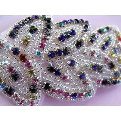 R-100 Multicoloured Rhinestone Applique