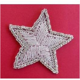 R-106 Silver bead and Rhinestone star.