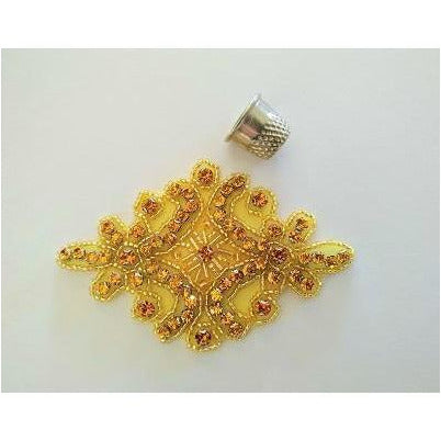 gold rhinestone applique, topaz, dance, costumes