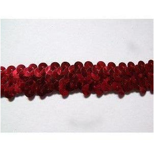 Sequin Elastic, 2 rows, Red