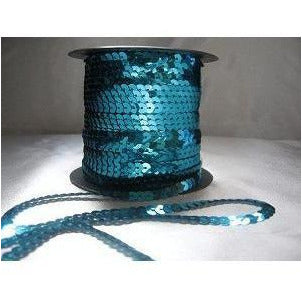 Sequin strand,flat,Turquoise