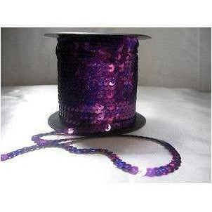 Sequin strand, flat, Purple laser
