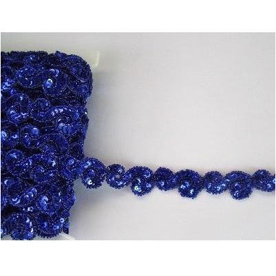 T-001 Blue sequin and bead S trim