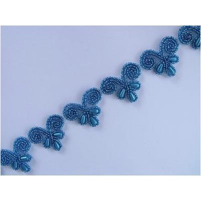 T-003 Turquoise love heart trim